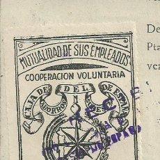 Sellos: SELLO VIÑETA MUTUALIDAD EMPLEADOS CAJA DE AHORROS DEL SURESTE DE ESPAÑA MURCIA 1955 SOBRE DOCUMENTO . Lote 102535463