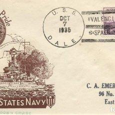 Sellos: 1937 DESTRUCTOR USS DALE (DD-353) VALENCIA EN AYUDA REFUGIADOS DEL BANDO REPUBLICANO. Lote 102559535