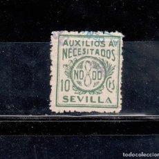Sellos: SEVILLA. AUXILIO A NECESITADOS. 10 CTS.. Lote 102631675