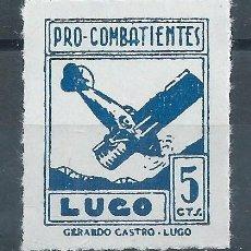 Sellos: R25/ ESPAÑA LUGO, LOCALES PATRIOTICOS, NUEVOS **. Lote 102865119