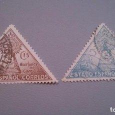 Sellos: 1938 - BENEFICENCIA - EDIFIL 19/20 - COMPLETA - VIRGEN DEL PILAR.. Lote 103171091