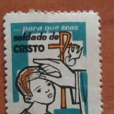 Sellos: VIÑETA RELIGIOSA : PARA QUE SEAS SOLDADO DE CRISTO. Lote 103184071