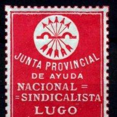 Sellos: LUGO. JUNTA PROVINCIAL DE AYUDA NACIONAL SINDICALISTA. Lote 103211047