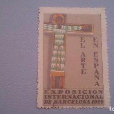 Sellos: 1929 - VIÑETA - EXPOSICION INTERNACIONAL DE BARCELONA 1929 - MNH** - NUEVA -EL ARTE EN ESPAÑA. Lote 103218667
