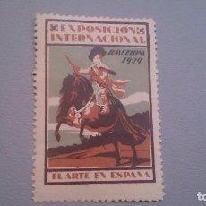 Sellos: 1929 - VIÑETA - EXPOSICION INTERNACIONAL DE BARCELONA 1929 - MNH** - NUEVA - EL ARTE EN ESPAÑA.. Lote 103218975