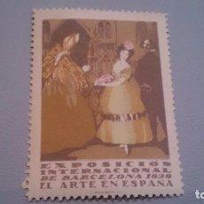 Sellos: 1929 - VIÑETA - EXPOSICION INTERNACIONAL DE BARCELONA 1929 - MH** - NUEVA - EL ARTE EN ESPAÑA.. Lote 103221411