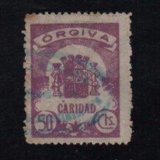 Sellos: ORGIVA, 50 CTS, ALLEPUZ Nº 4, VER FOTO. Lote 103265359