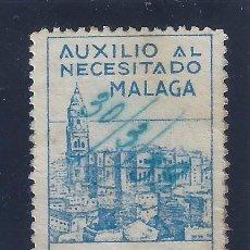 Sellos: AUXILIO AL NECESITADO MÁLAGA. FECHA MANUSCRITA 30/3/39.. Lote 103288847