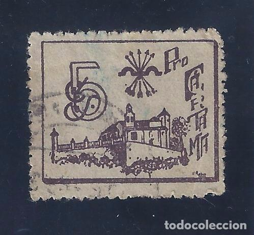 VIÑETA PRO CARTAMA (MÁLAGA). (Sellos - España - Guerra Civil - Locales - Usados)