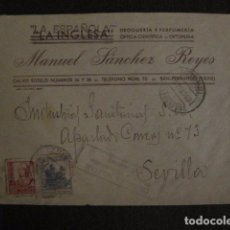 Sellos: CENSURA MILITAR CADIZ - LA ESPAÑOLA - LA INGLESA -CARTA - VER FOTOS - (V-12.663). Lote 103316667