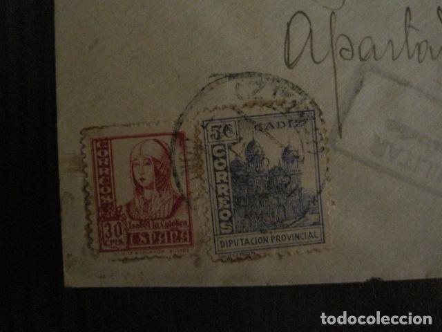 Sellos: CENSURA MILITAR CADIZ - LA ESPAÑOLA - LA INGLESA -CARTA - VER FOTOS - (V-12.663) - Foto 2 - 103316667