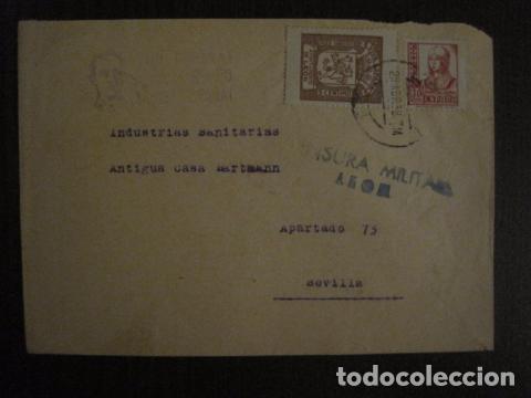 CENSURA MILITAR LEON - PARO OBRERO -VIVA ESPAÑA -CARTA - VER FOTOS - (V-12.664) (Sellos - España - Guerra Civil - De 1.936 a 1.939 - Cartas)