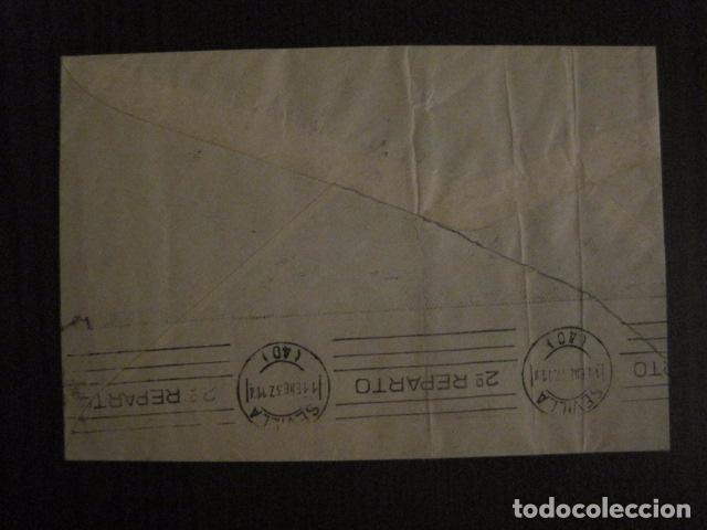 Sellos: CENSURA MILITAR SEVILLA - AUXILIO INVIERNO -CARTA - VER FOTOS - (V-12.665) - Foto 5 - 103317515
