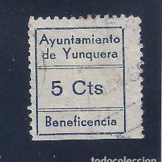 Sellos: AYUNTAMIENTO DE YUNQUERA. BENEFICENCIA.. Lote 103318019