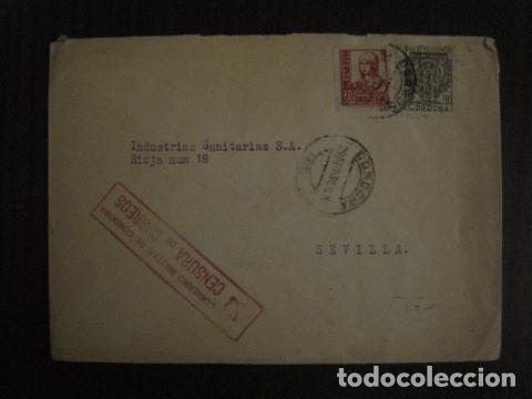 CENSURA MILITAR DE CORREOS DE CORDOBA -PRO BENEFICIENCIA CORDOBA - VER FOTOS - (V-12.667) (Sellos - España - Guerra Civil - De 1.936 a 1.939 - Cartas)