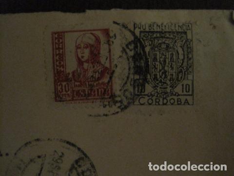 Sellos: CENSURA MILITAR DE CORREOS DE CORDOBA -PRO BENEFICIENCIA CORDOBA - VER FOTOS - (V-12.667) - Foto 2 - 103318563