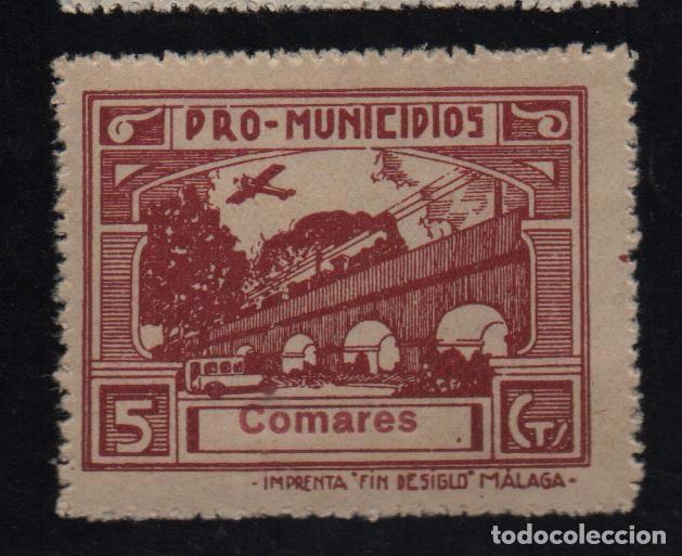 COMARES, -MALAGA- 5 CTS. -PRO MUNICIPIOS, ALLEPUZ Nº 4 VER FOTO (Sellos - España - Guerra Civil - De 1.936 a 1.939 - Usados)