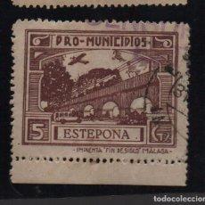 Sellos: ESTEPONA, -MALAGA- 5 CTS. -PRO MUNICIPIOS, ALLEPUZ Nº 20 VER FOTO. Lote 103322215