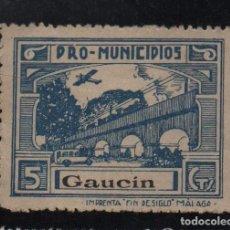 Sellos: GAUCIN, -MALAGA- 5 CTS. -PRO MUNICIPIOS, ALLEPUZ Nº 2 VER FOTO. Lote 103322511