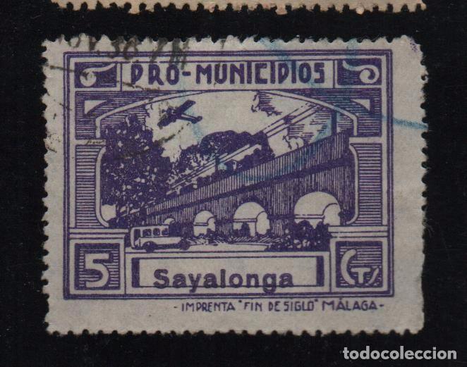 SAYALONGA, -MALAGA- 5 CTS. -PRO MUNICIPIOS, ALLEPUZ Nº 3 VER FOTO (Sellos - España - Guerra Civil - De 1.936 a 1.939 - Usados)