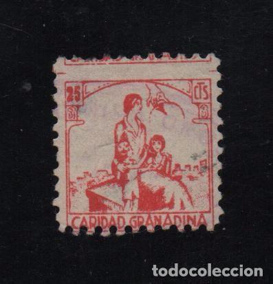 GRANADA, 25 CTS, CARIDAD GRANADINA, ALLEPUZ Nº 24, VER FOTO (Sellos - España - Guerra Civil - De 1.936 a 1.939 - Usados)