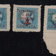 Sellos: GRANADA, 25 CTS, N-R-V-, FRANCO II AÑO TRIUNFAL,, ALLEPUZ Nº 159/61 VER FOTO. Lote 103393543