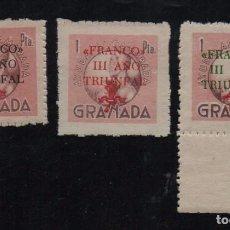 Sellos: GRANADA, 1 PTA, N-R-V-, FRANCO III AÑO TRIUNFAL,, ALLEPUZ Nº 174/76 VER FOTO. Lote 103394111