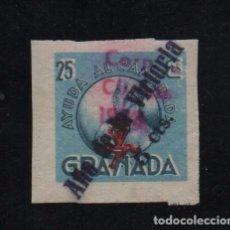 Sellos: GRANADA, 5 CTS SOBRE 25 CTS, AÑO DE LA VICTORIA,Y CORPUS CHRISTI, N-R-, VER FOTO. Lote 103427427