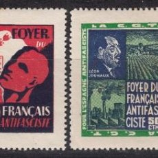 LOTE DE 4 VIÑETAS - FOYER DU FRANÇAIS ANTIFASCISTE -