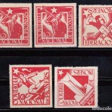 Sellos: SERIE COMPLETA - FEDERACIÓN NACIONAL DE PIONEROS - . Lote 103446939