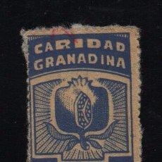 Sellos: GRANADA, 10 CTS, CARIDAD GRANADINA, VER FOTO. Lote 103568703