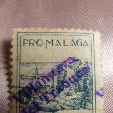 Sellos: SELLO BENEFICENCIA PRO-MALAGA SOBRECARGADO VILLANUEVA DEL TRABUCO-DIFICIL SELLO ESPAÑOL GUERRA CIVIL. Lote 103832667