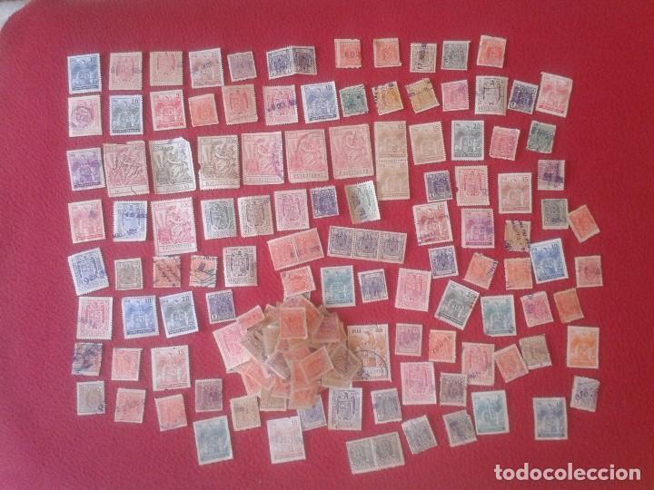 LOTE DE 230 SELLOS FISCALES VIÑETAS PÓLIZAS TIMBRES DEL ESTADO TIMBRE PÓLIZA VIÑETA SELLO FISCAL VER (Sellos - España - Guerra Civil - Viñetas - Usados)