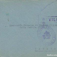 Sellos: CARTA GUERRA CIVIL MATASELLO HOSPITAL MILITAR SEVILLA DIRECCION. TENIENTE CAZADORES DE SAN FERNANDO. Lote 103883147