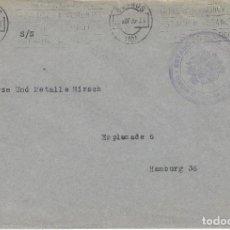 Sellos: CARTA GUERRA CIVIL COMISION INDUSTRIA COMERCIO ABASTOS ESTADO ESPAÑOL BURGOS 1936 ALEMANIA. Lote 103886323