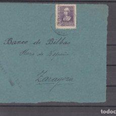 Sellos: ,,,29 FRAGMENTO ZARAGOZA A ZARAGOZA, CENSURA MILITAR, FRANQUEO 858. Lote 103971535