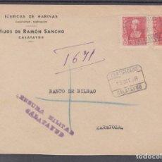 Sellos: ,,,34 FRAGMENTO CERTIFICADO CALATAYUD A ZARAGOZA, CENSURA MILITAR CALATAYUD, FRANQUEO 857(2). Lote 103973787