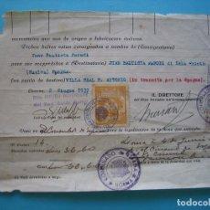 Sellos: FILATELIA FISCAL - DOCUMENTO SELLOS CONSULADO ITALIA Y CONSULADO ESPAÑA DE LIVORNO AÑO 1937 VER. Lote 103993199