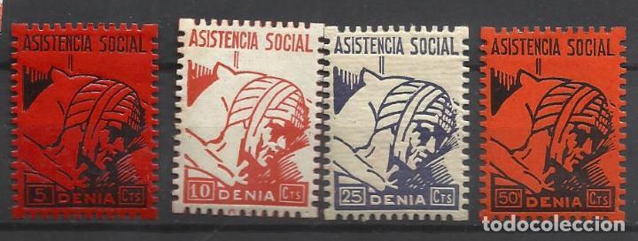 5846-LOTE SELLOS DENIA LOCALES ESPAÑA GUERRA CIVIL DENIA ALICANTE SERIE ASISTENCIA SOCIAL.NUEVOS*,VE (Sellos - España - Guerra Civil - Locales - Nuevos)