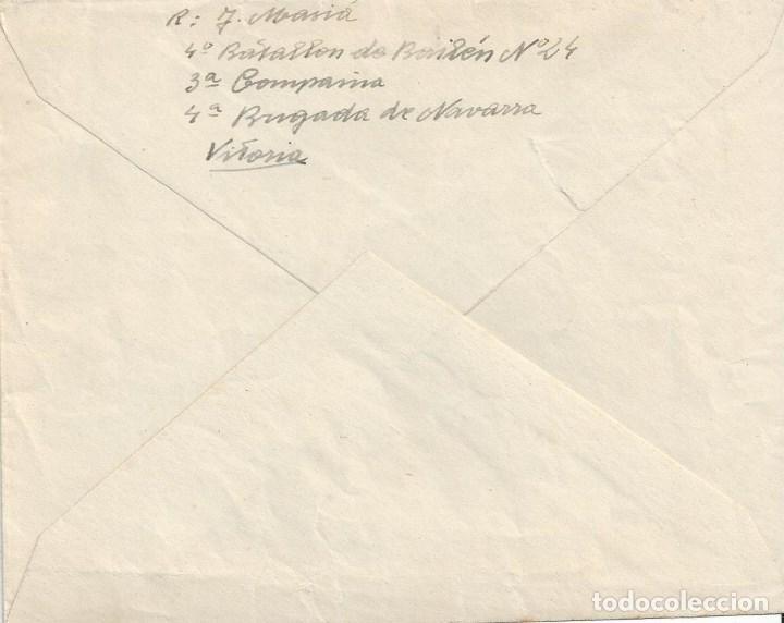 Sellos: CARTA GUERRA CIVIL VITORIA BATALLON BAILEN BRIGADA NAVARRA A SAN SEBASTIAN CENSURA MILITAR - Foto 2 - 104096731