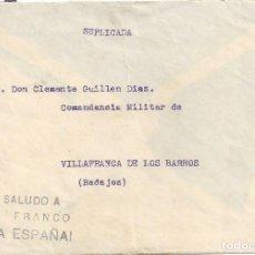 Sellos: CARTA GUERRA CIVIL SOBRE ILUSTRADO ACADEMIA INFANTERIA GRANADA VILLAFRANCA DE LOS BARROS BADAJOZ. Lote 104097107