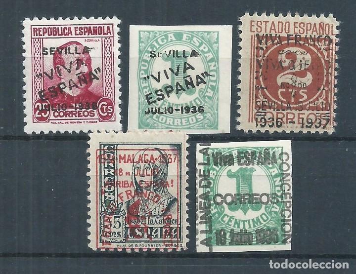 R25/ ESPAÑA, LOTE LOCALES PATRIOTICOS, NUEVOS **/* (Sellos - España - Guerra Civil - De 1.936 a 1.939 - Nuevos)