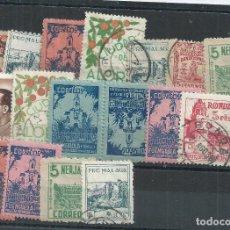 Sellos: R25/ ESPAÑA, 17 LOCALES PATRIOTICOS, NUEVOS ** Y USADOS. Lote 104169535