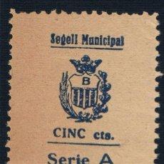 Sellos: SELLO LOCAL GUERRA CIVIL BAÑOLAS - BANYOLES (GERONA) SEGELL MUNICIPAL CINC CENTS. SERIE A *. Lote 104237347