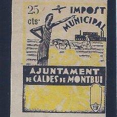 Sellos: AJUNTAMENT DE CALDES DE MONTBUI. IMPOST MUNICIPAL 25 CTS. AMARILLO. MNH **. Lote 104311431
