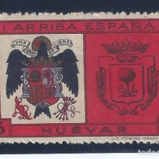 Sellos: VIÑETA HUEVAR. ARRIBA ESPAÑA 5 CTS. MH *. Lote 104323583