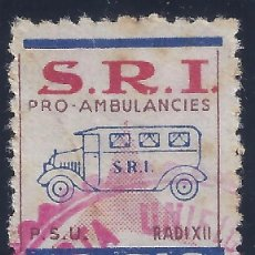 Sellos: S.R.I. PRO AMBULANCIES. P.S.U. RADI XII. Lote 104411327