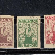 Sellos: AJUNTAMENT DEL MASNOU. 3 SELLOS DE 5 CTS.. Lote 104613079
