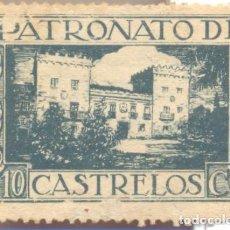 Sellos: CASTRELOS, VIGO, PATRONATO DE CASTRELOS, 20 CENTIMOS, MUY RARO. Lote 104663535