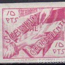 Sellos: WP615 ESPAÑA SPAIN GUERRA CIVIL SUBSIDIO COMBATIENTE SALAMANCA 10 PTAS S/D. Lote 104767735